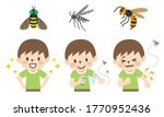 illustration set of insect... | Shutterstock .eps vector #1770952436