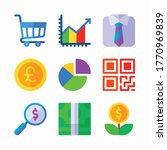 icon set economy for different...