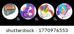 modern set of abstract round...   Shutterstock .eps vector #1770976553