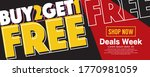 buy 2 get 1 free campaign...   Shutterstock .eps vector #1770981059