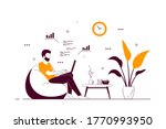 young man at home sitting in... | Shutterstock .eps vector #1770993950