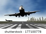 take off airplane | Shutterstock . vector #177100778