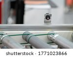 Small photo of Photoelectric Sensor installed on Line conveyor in factory