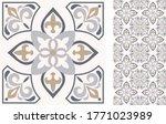 seamless azulejo tile.... | Shutterstock .eps vector #1771023989