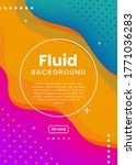 abstract fluid 3d background... | Shutterstock .eps vector #1771036283
