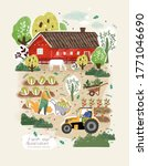 farm and agriculture. vector...   Shutterstock .eps vector #1771046690