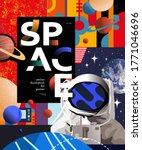 Space And Astronaut Banner...