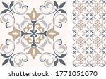 seamless azulejo tile.... | Shutterstock .eps vector #1771051070