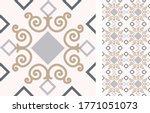 seamless azulejo tile.... | Shutterstock .eps vector #1771051073
