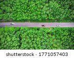 aerial view of the road passing ...   Shutterstock . vector #1771057403