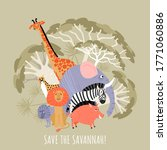 save savannah eco concept.... | Shutterstock .eps vector #1771060886