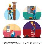 electrician character... | Shutterstock .eps vector #1771083119