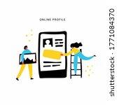 online profile hand drawn flat...   Shutterstock .eps vector #1771084370