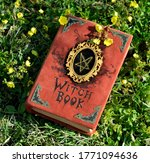 hand crafted witch book with...   Shutterstock . vector #1771094636