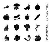vegetable icon set illustration ...   Shutterstock .eps vector #1771097483