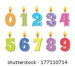 vector illustration of birthday ... | Shutterstock .eps vector #177110714