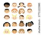 cute cartoon children avatars... | Shutterstock .eps vector #1771122380