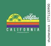 vintage style beach wear print...   Shutterstock .eps vector #1771130900