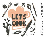 Let S Cook. Lettering With For...