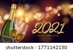 2021 new year background with a ... | Shutterstock .eps vector #1771142150