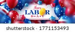 usa labor day sale poster... | Shutterstock .eps vector #1771153493