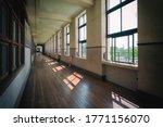 Corridor Of Old School In Japan