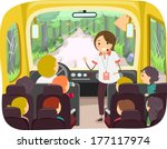 illustration of kids on a tour... | Shutterstock .eps vector #177117974