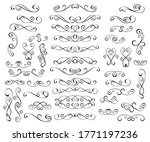 set of decorative elements for... | Shutterstock .eps vector #1771197236