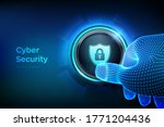 cyber security. protect and... | Shutterstock .eps vector #1771204436