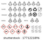 packaging icon symbol set.... | Shutterstock .eps vector #1771221896