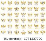 vintage weapon vector logos or... | Shutterstock .eps vector #1771237700