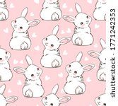 seamless pattern rabbit. hand...   Shutterstock .eps vector #1771242353