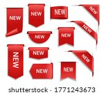 new red vector banners  ribbons ... | Shutterstock .eps vector #1771243673