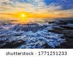 Seascape Sunrise At One Of...