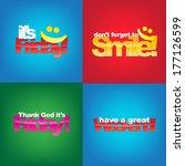 set of typographic backgrounds. ... | Shutterstock .eps vector #177126599