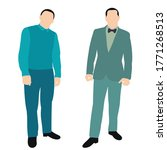isolated   a flat style  men... | Shutterstock .eps vector #1771268513