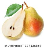 pears with pear slice isolated... | Shutterstock . vector #177126869