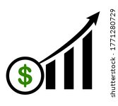 trend graph of the rising... | Shutterstock .eps vector #1771280729
