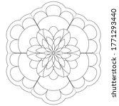Easy Mandala Coloring Page...