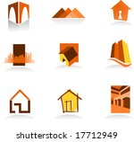 Stock vector collection of real estate icons for more logos of this type click on my name below to see my 17712949