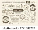 vintage typographic design... | Shutterstock .eps vector #1771304969