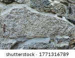Old Stone Wall Close Up Built...