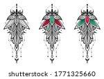 lotus ornamental flower and...   Shutterstock .eps vector #1771325660