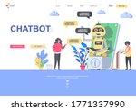 chatbot flat landing page...