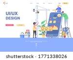 ui ux design flat landing page...