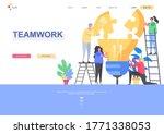 teamwork flat landing page...