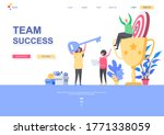 team success flat landing page...