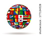 planet flags. 3d | Shutterstock . vector #177134528