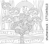 Coloring Book With Landscape ...