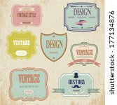 vintage labels and ribbon retro ... | Shutterstock .eps vector #177134876